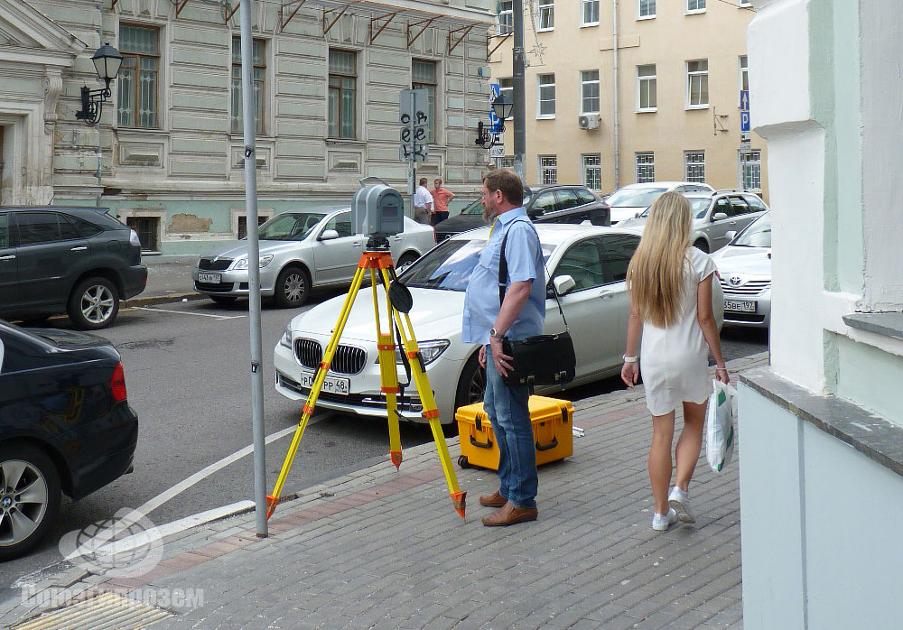 3D сканирование здания МАрхИ выполняется сканером Trimble TX8